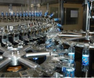 Mineral water glass bottling line